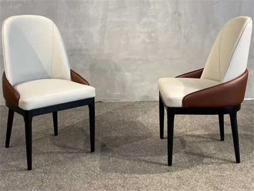江浙菜中餐厅皮革实木椅