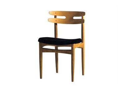 中餐厅靠背椅 实木水曲