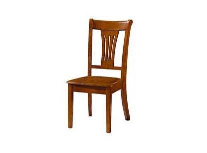 中式原木色实木餐椅 现