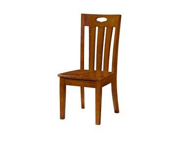 简约现代中餐厅靠背实木橡木椅子