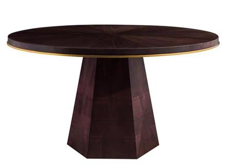 川菜馆简约实木中餐厅包厢圆桌