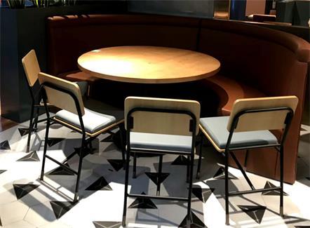 中餐厅包房实木桌椅_湘
