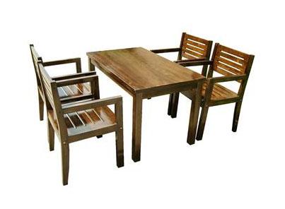 实木中餐厅餐桌椅组合 饭店餐厅农家乐防腐木复