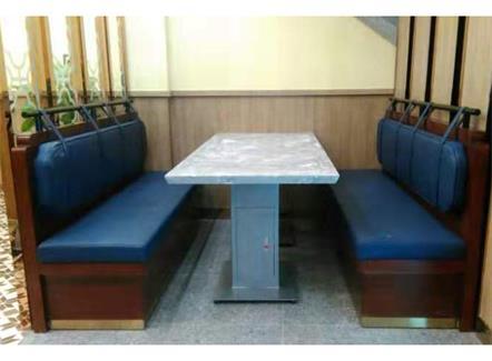 新款大理石中餐厅快餐店桌椅卡座