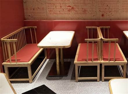 中餐厅不锈钢大理石轻奢桌椅_快餐店桌椅定制