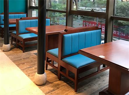 新中式中餐厅湘菜馆餐馆实木桌椅