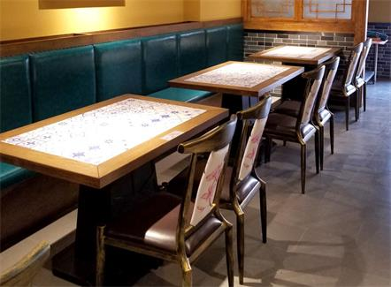 中式湘菜馆酒楼实木餐厅