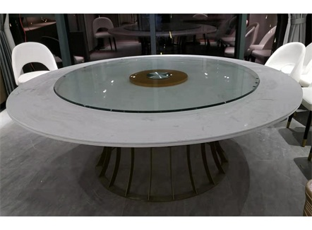中式餐厅时尚大理石餐桌_中餐厅桌椅定做