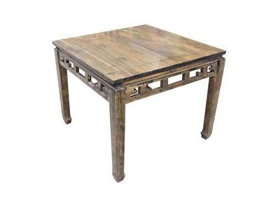 中餐厅仿古雕花实木长方桌 八仙桌