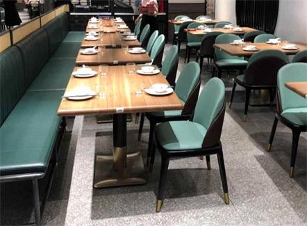 中餐厅家具实木餐桌_西北菜饭店专用桌椅